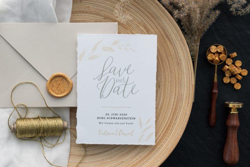 Victoria & Daniel | natürliche & edle Hochzeitspapeterie
